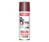 Краска-эмаль аэрозольная универсальная STARFIX 520мл, вишневая